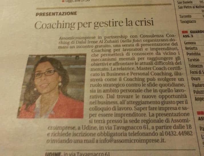 Coaching per gestire la crisi